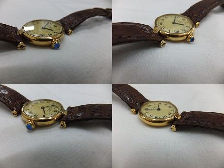 Cartier(カルティエ) ヴェルメイユ  時計修理完了品 ケース磨き後