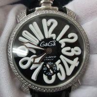 GaGa MILANO(ガガミラノ)マヌアーレ48MM 5010.06S 手巻き時計 ガラス交換