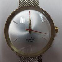 COMMUNE DE PARIS(コミューン)シルバー腕時計 金属バンド