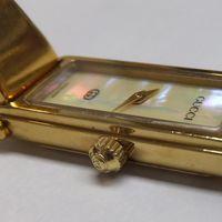 GUCCI(グッチ)2針レディース腕時計ゴールド 1500 ガラスパッキン修理後