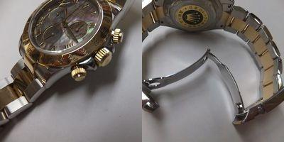 ROLEX(ロレックス)メンズ腕時計デイトナコンビ シェル文字盤 116523 新品仕上後